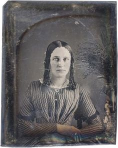 9th Plate Daguerreotype Charming Girl Sausage Curls Great Dress | eBay
