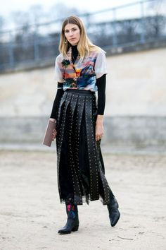 Pin for Later: See the Best Street Style From All of Paris Fashion Week Day 8 Veronika Heilbrunner