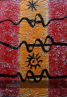 INDEPENDENCIA CATALANA   pintura en acrílico sobre bastidor de papel reciclado   50x70   RRiRR Ricardo Gil Turrion   colección privada