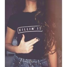 Killin It womens graphic t shirt.
