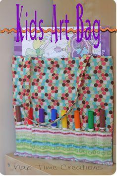 Kids Art Bag {Sewing tutorial}