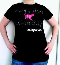 "Catsparella ""Every Day Is Caturday"" Ladies Fit Tee"