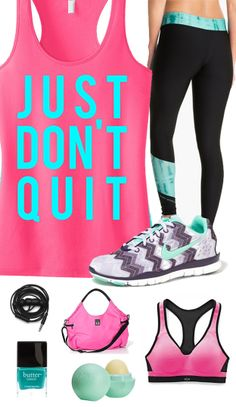 Cool #GymGear Board. JUST DON'T QUIT #Workout Tank Top Pink with teal by #NobullWomanApparel, $24.99 on Etsy, Click here to buy https://www.etsy.com/listing/174652000/just-dont-quit-workout-tank-top-pink?ref=shop_home_active_12