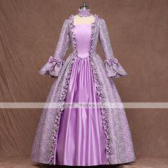 Victorian Costume, Medieval Costume, Medieval Clothing, Medieval Outfits, Rapunzel Halloween Costume, Roman Costumes, Petal Sleeve, Linnet, Light Purple