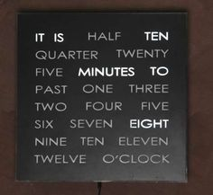 Want to make this and synchronize it to an atomic clock signal. Super accurate + awful precision = geek art.