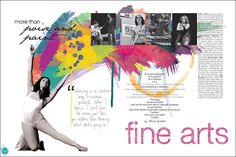 Want to do something like this for the fine arts page. Very creative but hard to do.