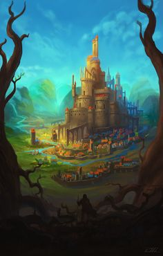 Castle Kings by vennom07 Castles in the sky Fantasy landscape Fantasy castle Deviantart fantasy