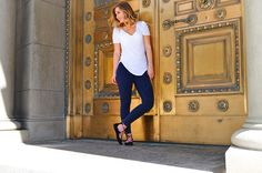 Lola & Jane is Salt Lake City's newest and hottest boutique. in Salt Lake City Utah. Salt Lake City News, Blue Leggings, Midnight Blue, Zippers, Back To School, To Go, Ballet, Shoe, Deep