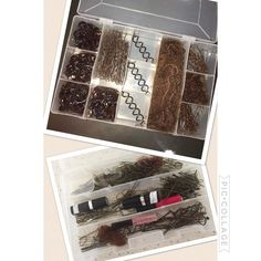 """What does your """" Dance Hair Box"""" look like?  Organised? Or not!!! Filled with KySienn Hair Accessories? Or whatever you can get at the time! #hairnet #dancemoms #dancing #dance #ballerina #ballet #hair #hairnet #bobbypins #ripple #organized"""