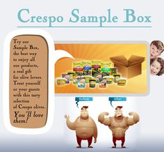 Crespo Sample Box, an Assortment of CRESPO Olives products, the best way to try them all!