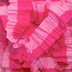 Pink and Bombay Pink Ruffled Crepe Paper by CharmiosCraftParty, $5.00
