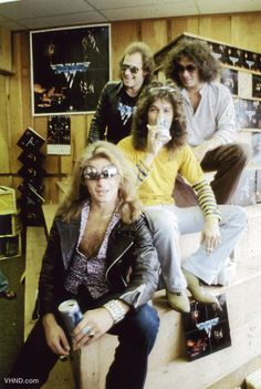 """Ah, the 70s. Van Halen in a """"Record"""" store promo from 1978"""