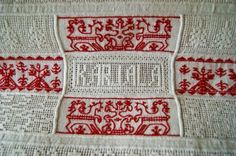 Karelia Old Symbols, Folk Embroidery, My Father, Finland, Weaving, Traditional, Costumes, Blanket, History