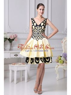 Beading Decorate Yellow A-line Prom Dress For 2013 V-neck- $143.35  http://www.fashionos.com  | beaded straps prom gowns | beaded sash evening gowns | yellow and black prom dress with sweetheart | v back prom dress | yellow and black prom gowns with beaded sash | flowy taffeta prom gown | v with brush train prom dress | beaded straps prom gowns | hot seller prom celebrity dresses in mold clwyd | v front and back prom dress | yellow and black prom