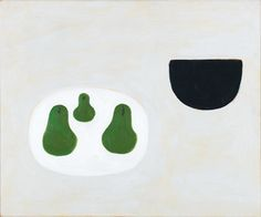 William Scott, Three Pears, 1976 Oil on canvas, 63.5 × 76 cm / 25 × 30 in, Private collection