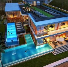 Mansions homes Dream house mansions Rich people lifestyle Mansions luxury Modern mansions House goals Dream Home Design, Modern House Design, Villa Design, Casas The Sims 4, Dream Mansion, Luxury Homes Dream Houses, Dream Homes, Luxury Modern Homes, Luxury House Plans