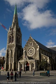 Christchurch Cathedral, Canterbury, New Zealand (pre 2011 earthquake) City Photography, Landscape Photography, Canterbury New Zealand, Long White Cloud, New Zealand Landscape, South Island, East Coast, Barcelona Cathedral, Places Ive Been