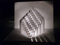 """Képtalálat a következőre: """"kirigami"""" Origami And Kirigami, Origami Paper, Paper Structure, Ap Studio Art, Parametric Design, Box Patterns, Paper Folding, Retail Design, Art Studios"""