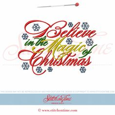 648 Christmas : Believe in The Magic Of Christmas 5x7