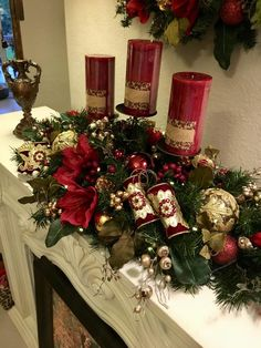 Your place to buy and sell all things handmade Christmas Door Decorations, Christmas Mantels, Christmas Centerpieces, Christmas Home, Christmas Holidays, Christmas Wreaths, Holiday Decor, Christmas Villages, Victorian Christmas