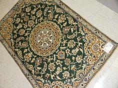 和風な玄関マットペルシャ絨毯手織りナイン産55106、ペルシャ絨毯激安セール価格