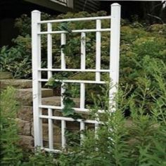 Trellises are a nice way of filling an empty space in a garden or back yard. They're really easy to build and they also offer other advantages.