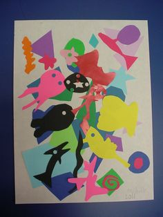 """Mrs. Knight's Smartest Artists: Matisse, part 2: """"drawing with scissors"""""""