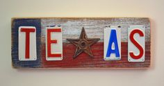 License plate art  Texas  Lone Star by license2chill on Etsy, $30.00
