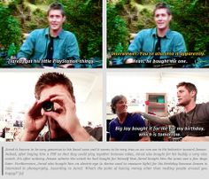 [gifset] Jensen on Jared's gifts for him and his generosity :)
