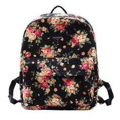 Meilaier Printing Canvas Backpack Rucksack for Teen Girls College School Bag Bookbag Bags. Follow board for more! :-)