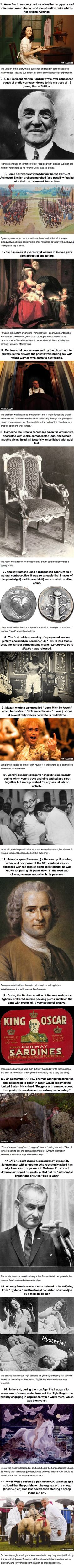 17 R-Rated History Facts They Don't Teach In School