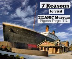 Here are 7 Reasons to Visit The Titanic Museum in Pigeon Forge, Tennessee! It's a fun family attraction in the Smokies that's especially kid-friendly. There's millions of dollars in original Titanic artifacts, history and the GRAND staircase is breathtaking!