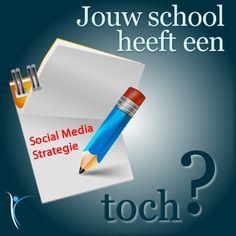 Social Media is een blijvertje, dat is nu wel duidelijk! En? wordt op jouw school ook al gewerkt met of aan een Social Media Strategie? #SocialMedia #Strategie #School