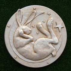 Hare in the Moon Plaque In folklore the legend of the Hare in the Moon is based on observations identifying markings of the Moon as depicting a hare or rabbit. The story exists in many cultures, especially in East Asian folklore and Aztec mythology.