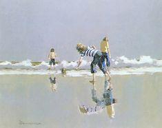 Jeux de plage André Bertounesque Human Condition, Images, Drawings, Beach, Painting, Quebec, Google, Summer, Photos