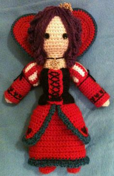 """Vivaldi (the Queen of Hearts) from """"Alice in the Country of Hearts"""" - amigurumi"""