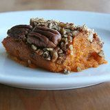 I make the unhealthy version of this every year at Thanksgiving and Christmas.  I will have to try this recipe and see if anyone notices... Healthy Sweet Potato Casserole Recipe.