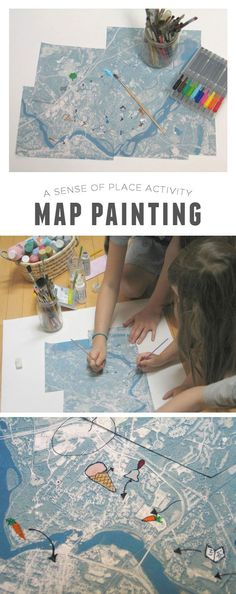 Map Painting | This is such a cute idea