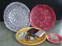 Picture of Lace Doily Dishes