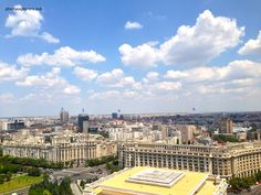 Bucharest seen from the top of the House of Parliament http://photoexplorers.net/2013/07/22/bucurestiul-de-la-inaltime-palatul-parlamentului/