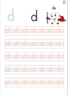 D Sesi Düz Yazı Okul Öncesi Etkinlikleri