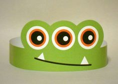Monster Paper Crown Printable by PutACrownOnIt on Etsy , [post_tags Monster 1st Birthdays, Monster Birthday Parties, Monster Party, Crown Printable, Festa Toy Story, Paper Crowns, Hello Kitty Birthday, Crazy Hats, Pumpkin Crafts