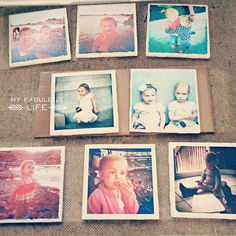 My Fabuless Life: Handmade Christmas Gifts DIY Instagram Coasters #christmas #diy #gifts