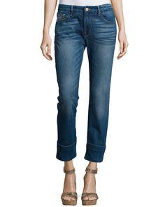 Le Grand Garcon Cropped Trouser Jeans, Novello - FRAME DENIM