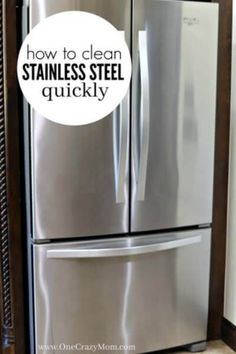 Learn how to clean Stainless Steel. Cleaning stainless steel only takes one easy step. It takes hardly any work at all to keep that stainless looking like new. How to clean stainless steel appliances. Learn how to clean stainless steel refrigerator. Deep Cleaning Tips, House Cleaning Tips, Cleaning Solutions, Spring Cleaning, Cleaning Hacks, Diy Hacks, Cleaning Crew, All You Need Is, Limpieza Natural