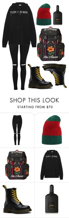 """L$D"" by anaandpizza ❤ liked on Polyvore featuring Topshop, Gucci, Balenciaga, Dr. Martens and Tom Ford"