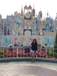Outside the  Castle of  it's a small world.