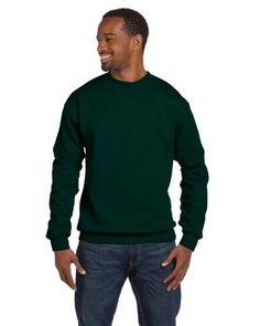Gildan Premium Cotton Ringspun Fleece Crewneck Sweatshirt. 92000, Men's, Size: XXXL, Green