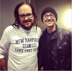 JD and Chester Bennington backstage at Korn's last concert
