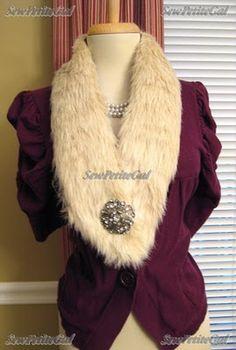 SewPetiteGal: DIY Faux Fur Collar Tutorial